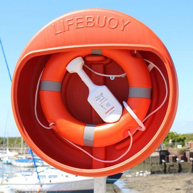 24 Inch Lifebuoy, Lifebuoy Housing & Throwline